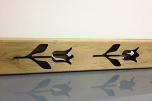 laser cut detail on timber paling
