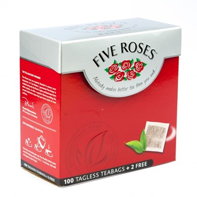 Five Roses Tagless Teabags 100 pack