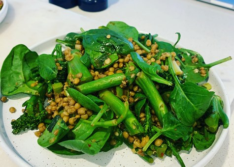 Broccolini and Lentil Salad