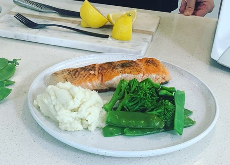 Salmon and Cauli Mash